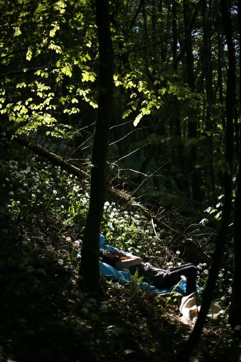 Me taking a rest in the forest