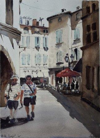 David and Bakhtiar in Arles