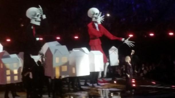 Dancing White Houses with Skeleton Trump: Credit Brig