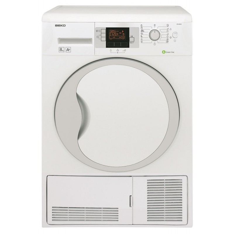 Asciugatrice pompa di calore 8kg classe a beko dpu8340x for Asciugatrice a pompa di calore