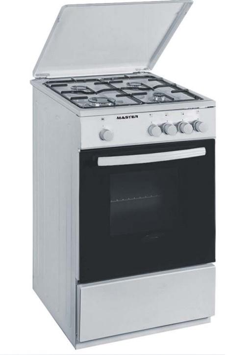 Cucina A Gas 50 50 Bianca 4 Fornelli E Forno Con Valvole Di Sicurezza Master Cucine Foligno Brigo Casa
