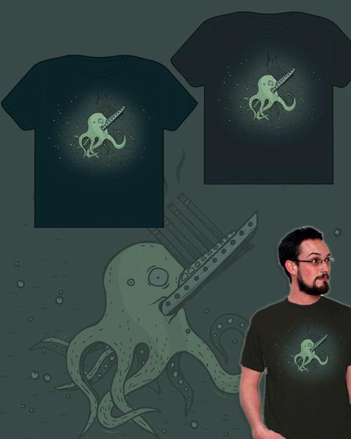 astoņkājis apdruka uz krekliem