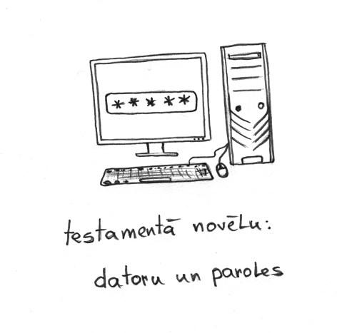 testamentā novēlu: datoru un paroles