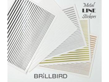 Metal Line Sticker Gold - Brillbird България - Самозалепващи стикери за нокти