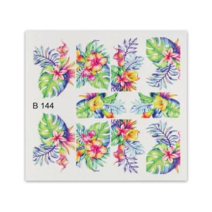 3D Стикери за нокти , 3D Effect Sticker B144 , Eфектни цветя и листа, Brillbird.bg