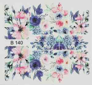 3D Стикери за нокти B140, 3D Effect Sticker B140 ,Шарени цветя Brillbird.bg