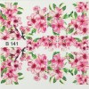 3D Стикери за нокти B141, 3D Effect Sticker B141 ,Розови цветя Brillbird.bg