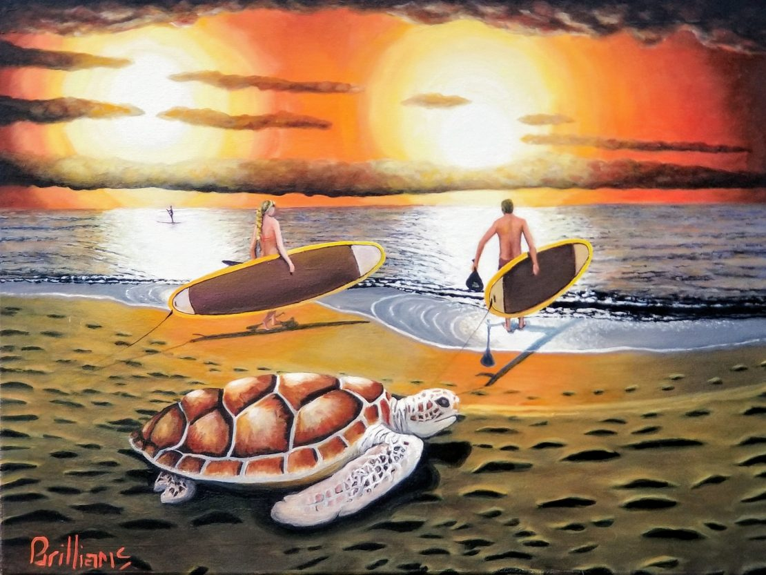 Paddle Out Painting