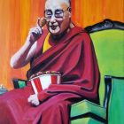 The Dalai Lama on The Virtues of Chicken Painting