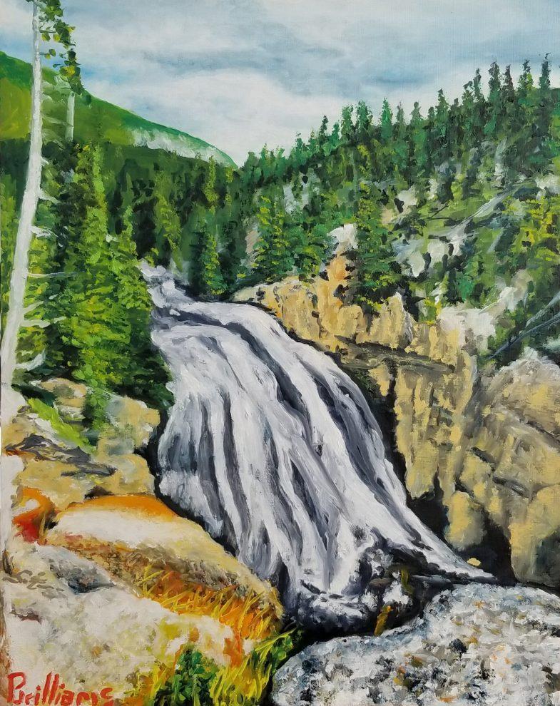 """Gibbon Falls"" Yellowstone National Park Painting"