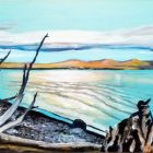Yellowstone Lake Village Painting