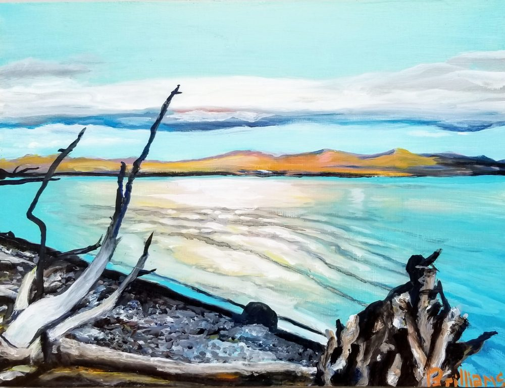 """Yellowstone Lake"" Yellowstone National Park Painting"