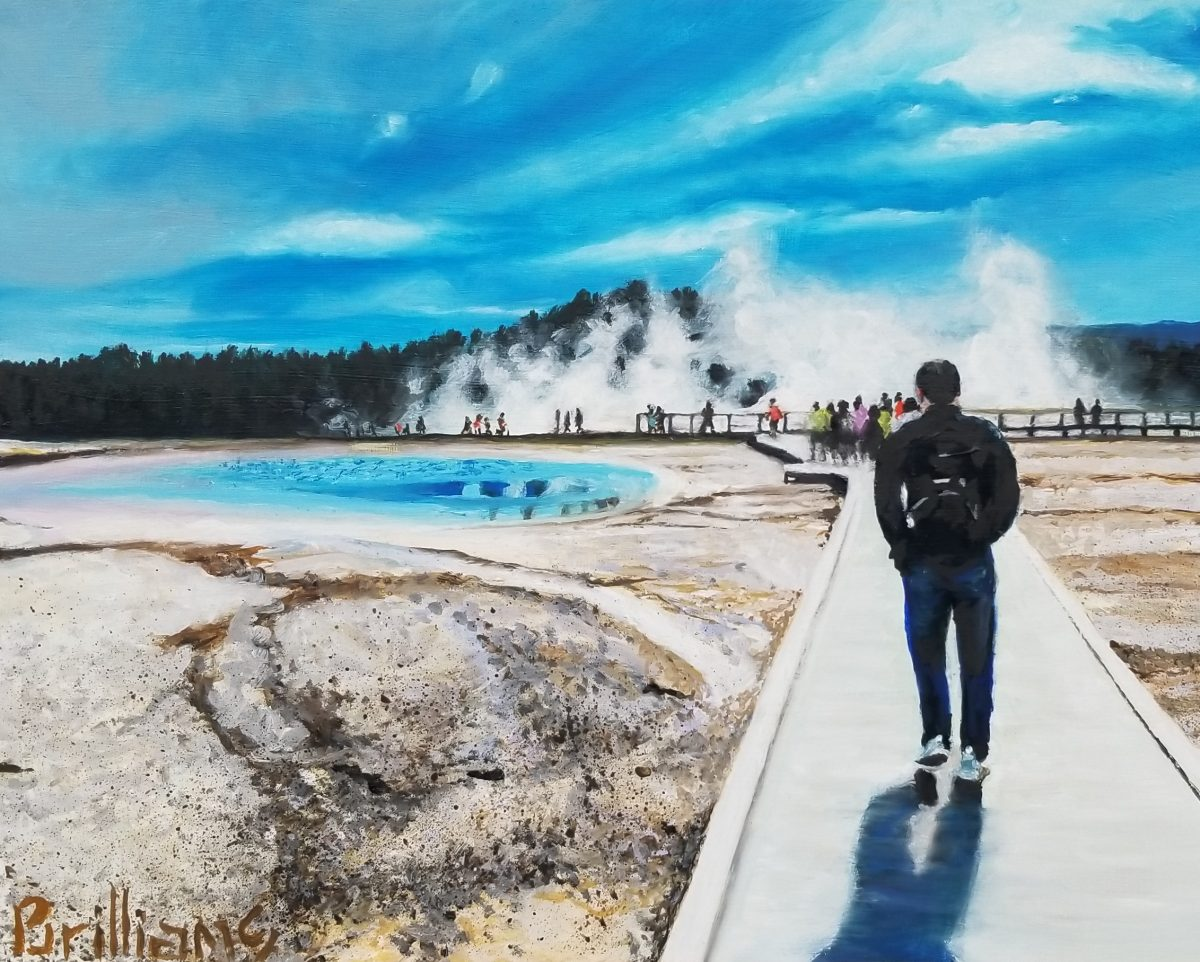 """Norris Geyser Basin"" Yellowstone National Park Painting"
