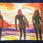 Custom Print Beach Towel features Taking in the Tide  painting