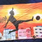 Custom Print Beach Towel features El Campeon painting