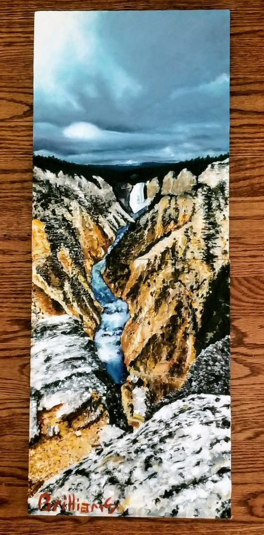 """Artist's Point"" Yellowstone National Park Painting"