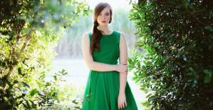 green-dress-beautiful-girl-female-forest-nature-long-hair-images-235618