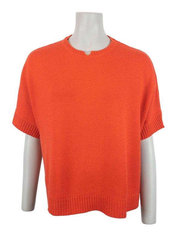 Orange 100% kashmir tröja Chunky Boxy Sweater