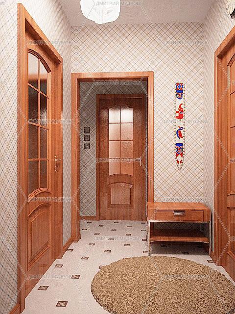 Дизайн интерьера Дизайн коридора в двухкомнатной квартире