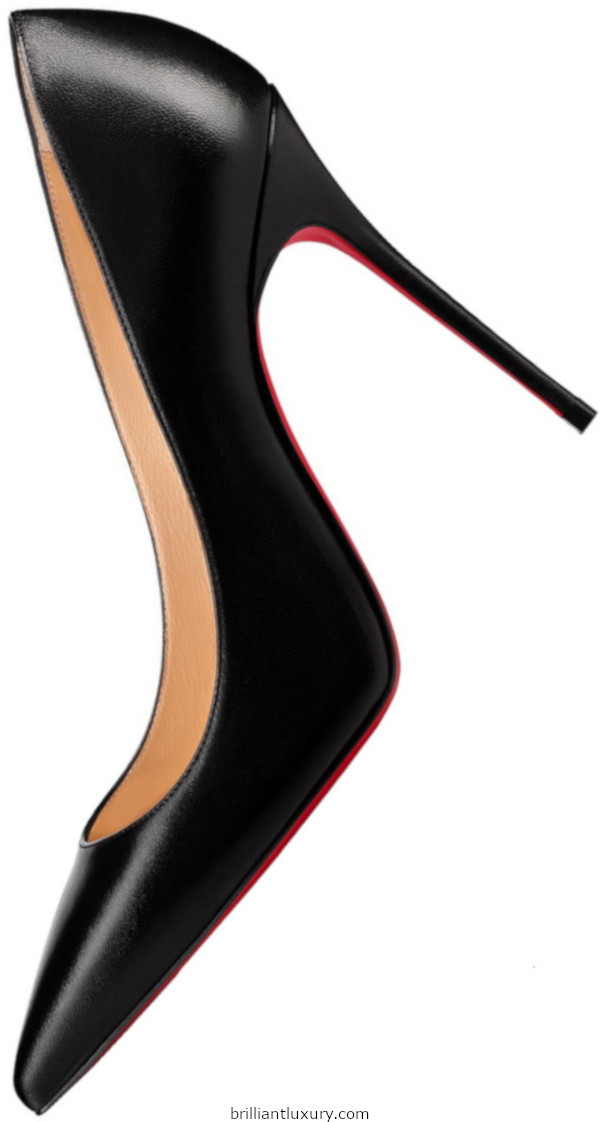 Decollette nappa leather high heels