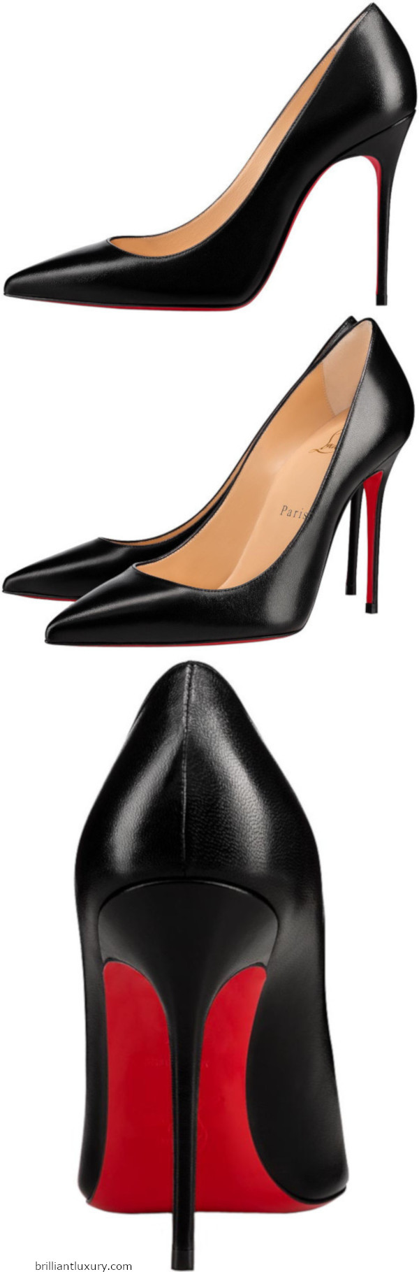 Decollette nappa leather shoes