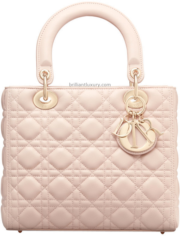 Classic Lady Dior Bags in powder pink