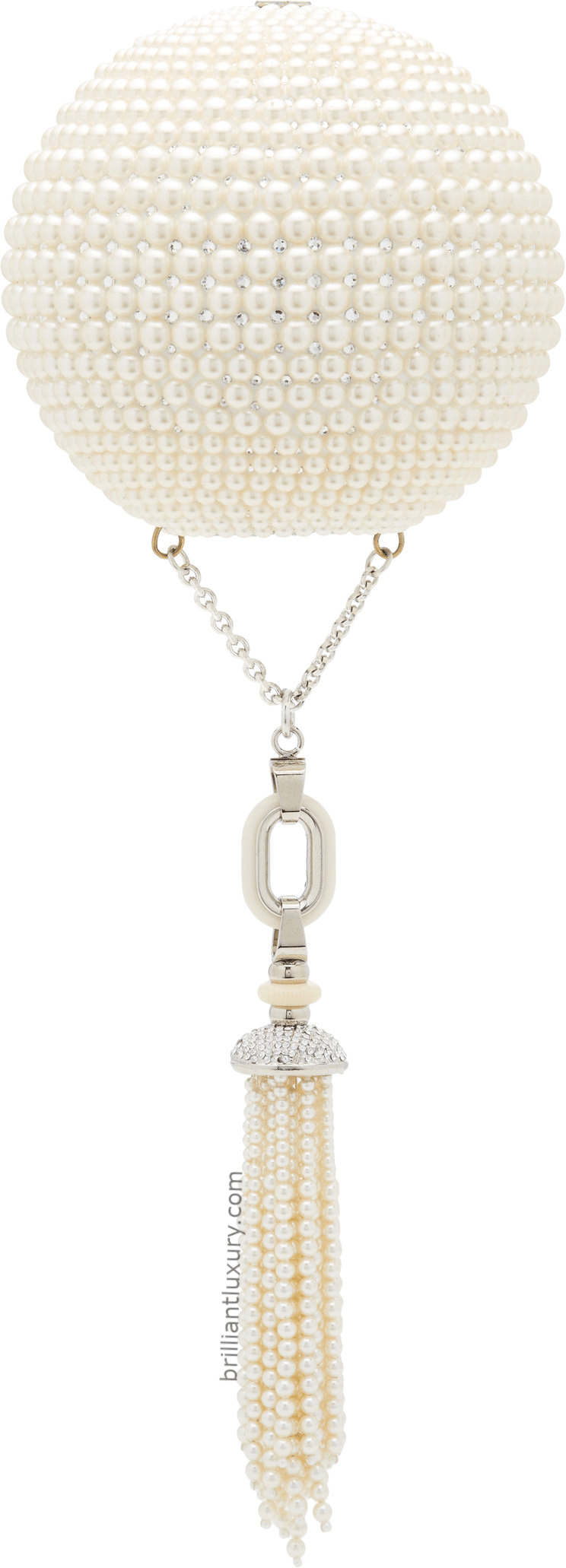 Judith Leiber pearl and crystal-embellished clutch