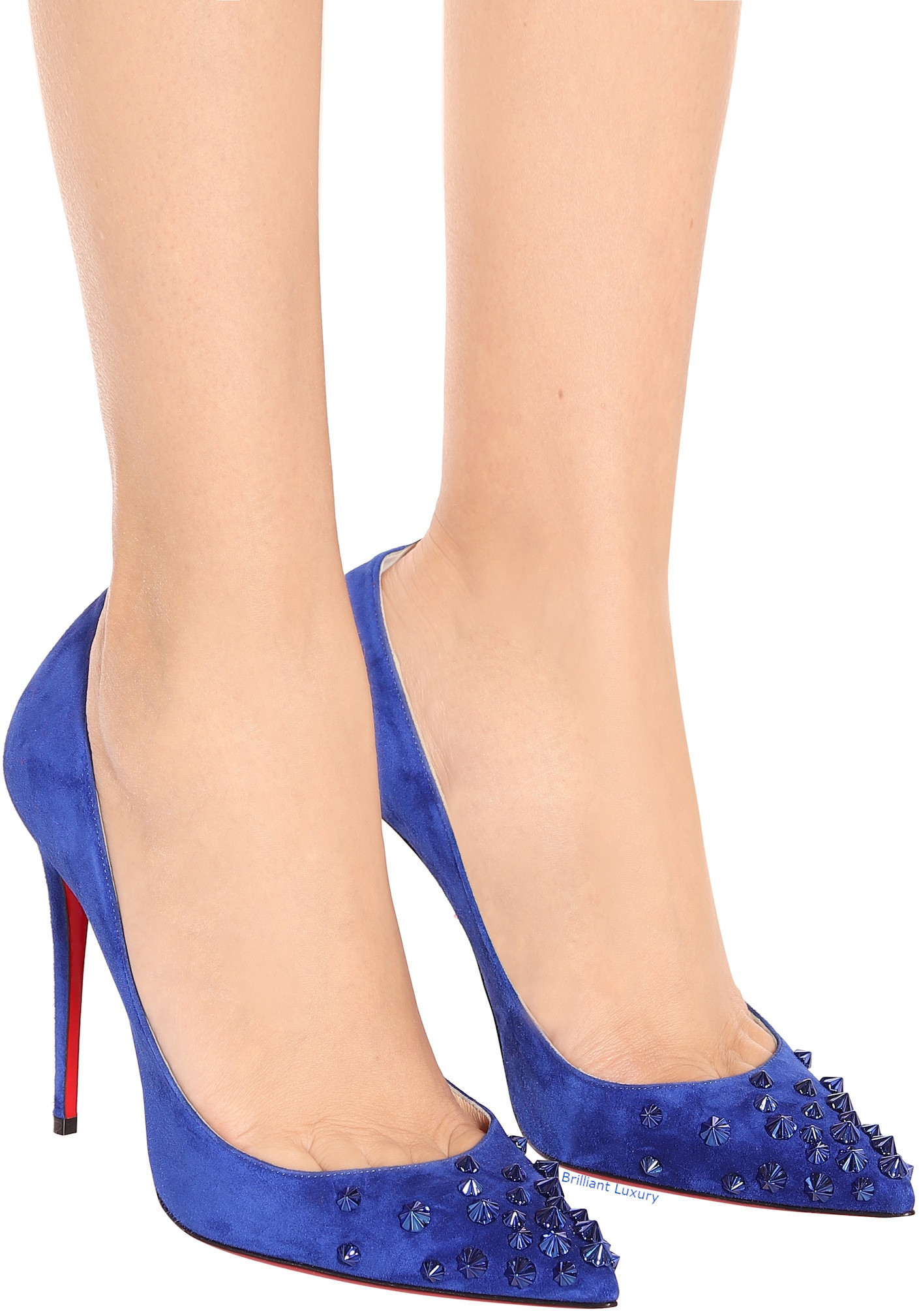 Christian Louboutin Drama suede pumps in blue
