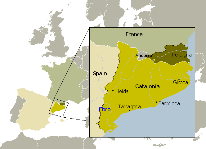 Image result for catalonia map images