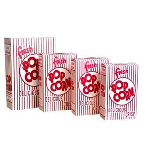 Closed Top Popcorn Boxes - Closed Top Popcorn Boxes