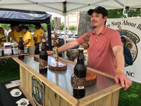 This blind squirrel definitely found a nut with its offerings at State of Origin Craft Beer Festival. Blind Squirrel Brewing Company is located in Plum Tree, NC.