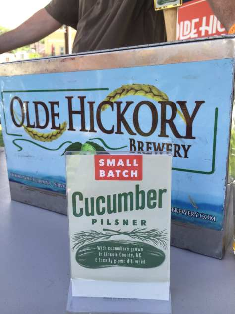 Olde Hickory Brewery of Hickory, NC, brought a cucumber dill beer.