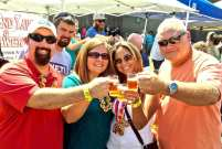 Happy attendees at Rails & Ales beer festival