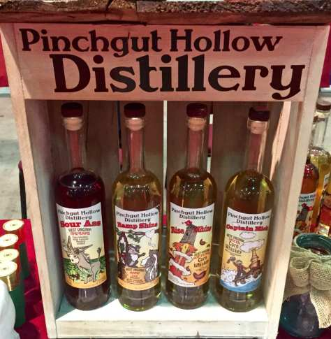 Pinchgut Hollow distillery bottles