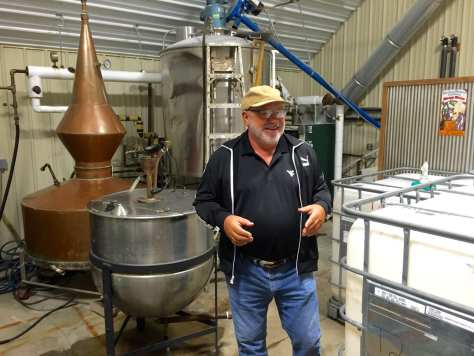 Mickey Heston in Pinchgut Hollow Distillery