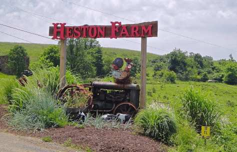 Entrance signage for Heston Farm.