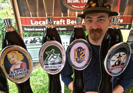 Brain Anderson, head brewer at Morgantown Brewing Company, had another good West Virginia beer year by winning three Bramwell medals