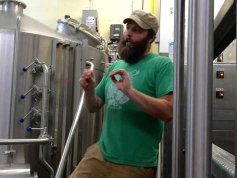 Brad Clark, who oversee all brewing at Jackie O's, says that the existing brewery is reaching its maximum brewing capacity.