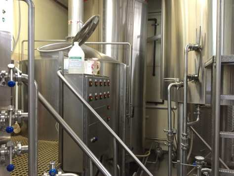 Jackie O's 20 barrel brewhouse.