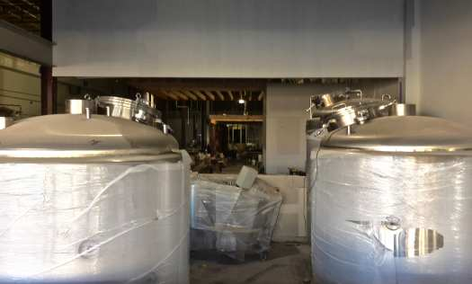 View inside the front door of The Peddler brewery