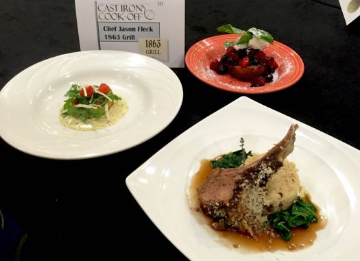 These plates won the Grand Champion title at the 2016 Cast Iron Cook-Off.