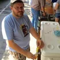 Firkin fest volunteer Rob Absten