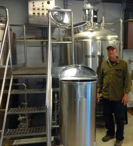 Jeff Melnick reviewing a BCast brewing system in Ohio.