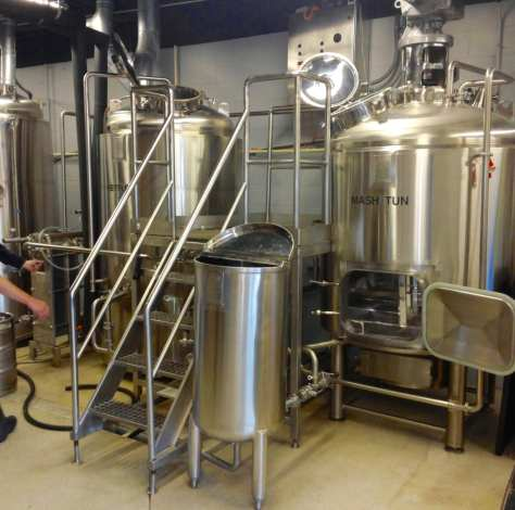 A BCast Heritage brewing system set up similar to the one ordered by Stumptown.