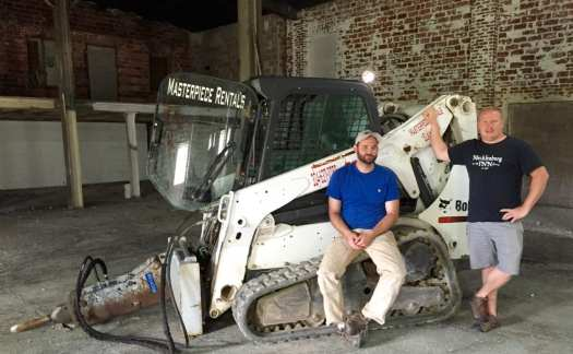 big timber expansion prepares to rip up old floor