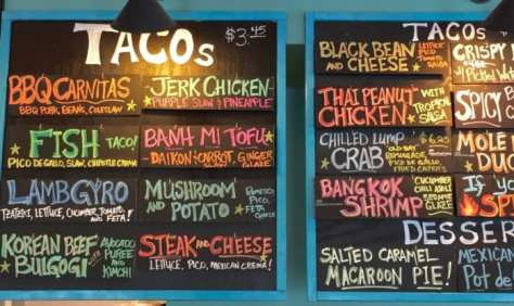 White Duck Taco menu