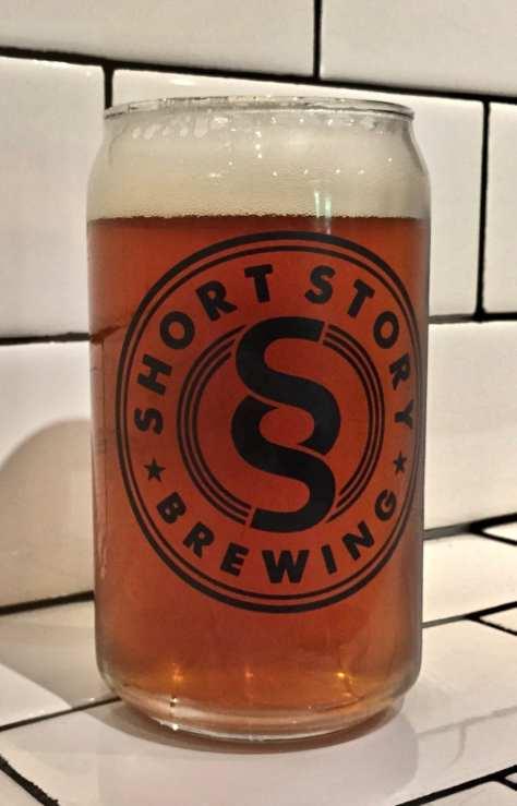 Short Story Brewing pint glass