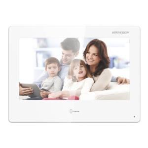 "Hikvision 2nd Gen IP Intercom, 10"" Android Room Station, PoE, 12VDC, White"