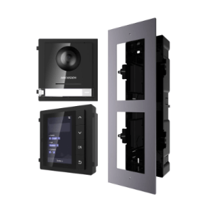 Hikvision 2nd Gen IP Intercom Kit, Door Station, Name Scroll Module & Flush Gang Box