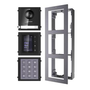 Hikvision 2nd Gen IP Intercom Kit, Door Station, Keypad, Display Module & Surface Mount